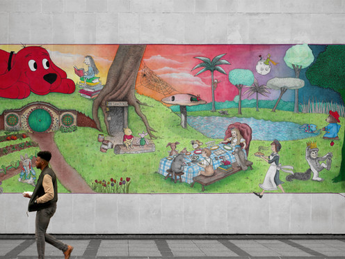 land of literature mural