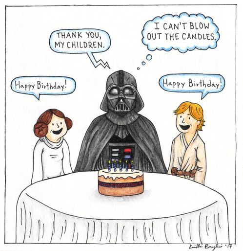 Star Wars Birthday Card For Dad