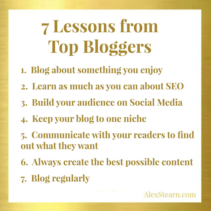 7 Lessons from Top Bloggers