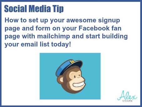 How to add one of those awesome Mailchimp signup forms and images to your Facebook Fan Page.