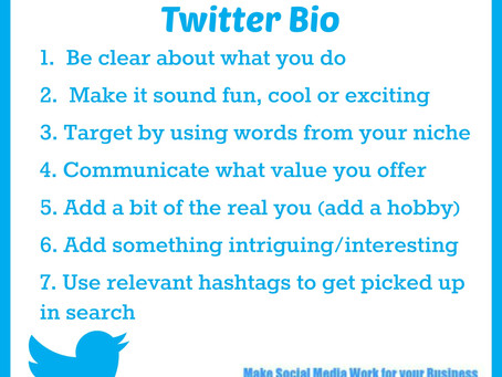 7 Tips for a Powerful Twitter Bio