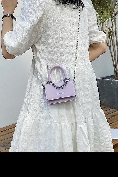 Mini chain satchel bag