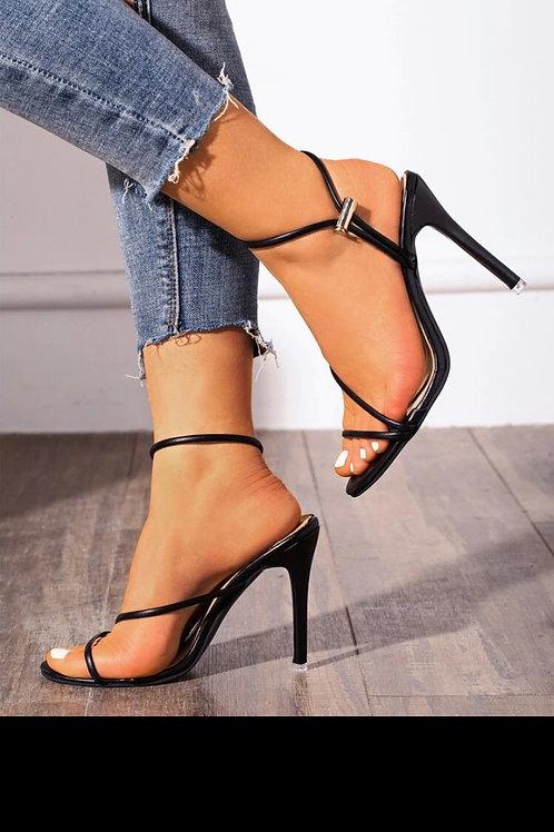 Thin strap stiletto heels