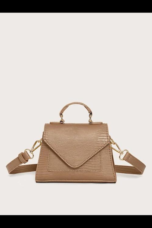 Croc satchel bag