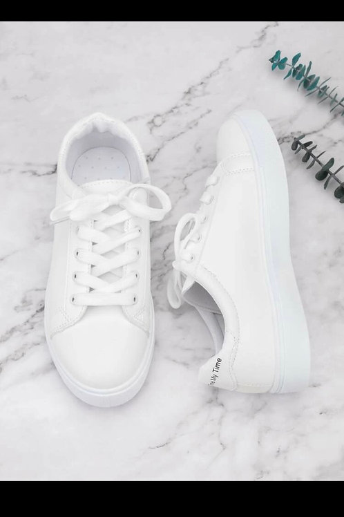 Lace up front skate shoes