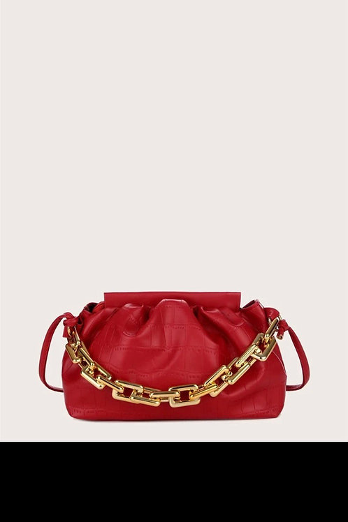 chain satchel bag