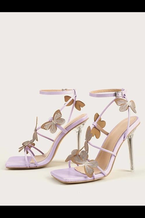 Butterfly stiletto heeled sandals