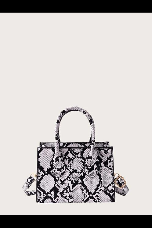 Snakeskin satchel bag