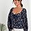 Thumbnail: Lantern sleeve floral top