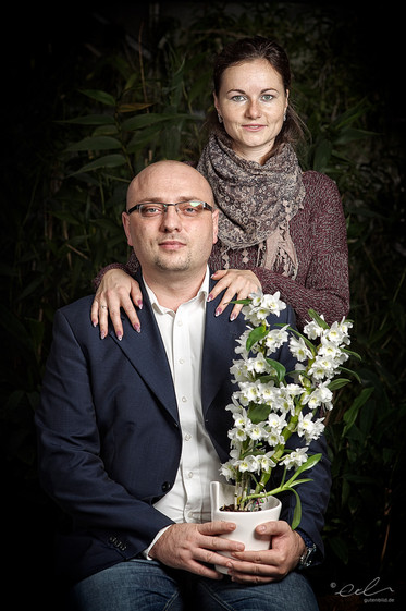 Andreas und Tegana und ihre Dendrobium nobile