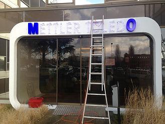 lettres boitier lumineuses plexiglass diffusant bleu
