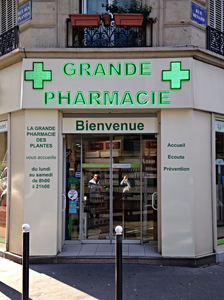 Enseigne grande pharmacie LED