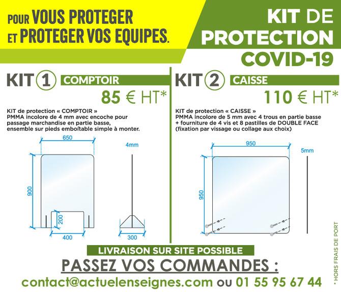 Préparez la réouverture de votre commerce. Kit protection Covid-19