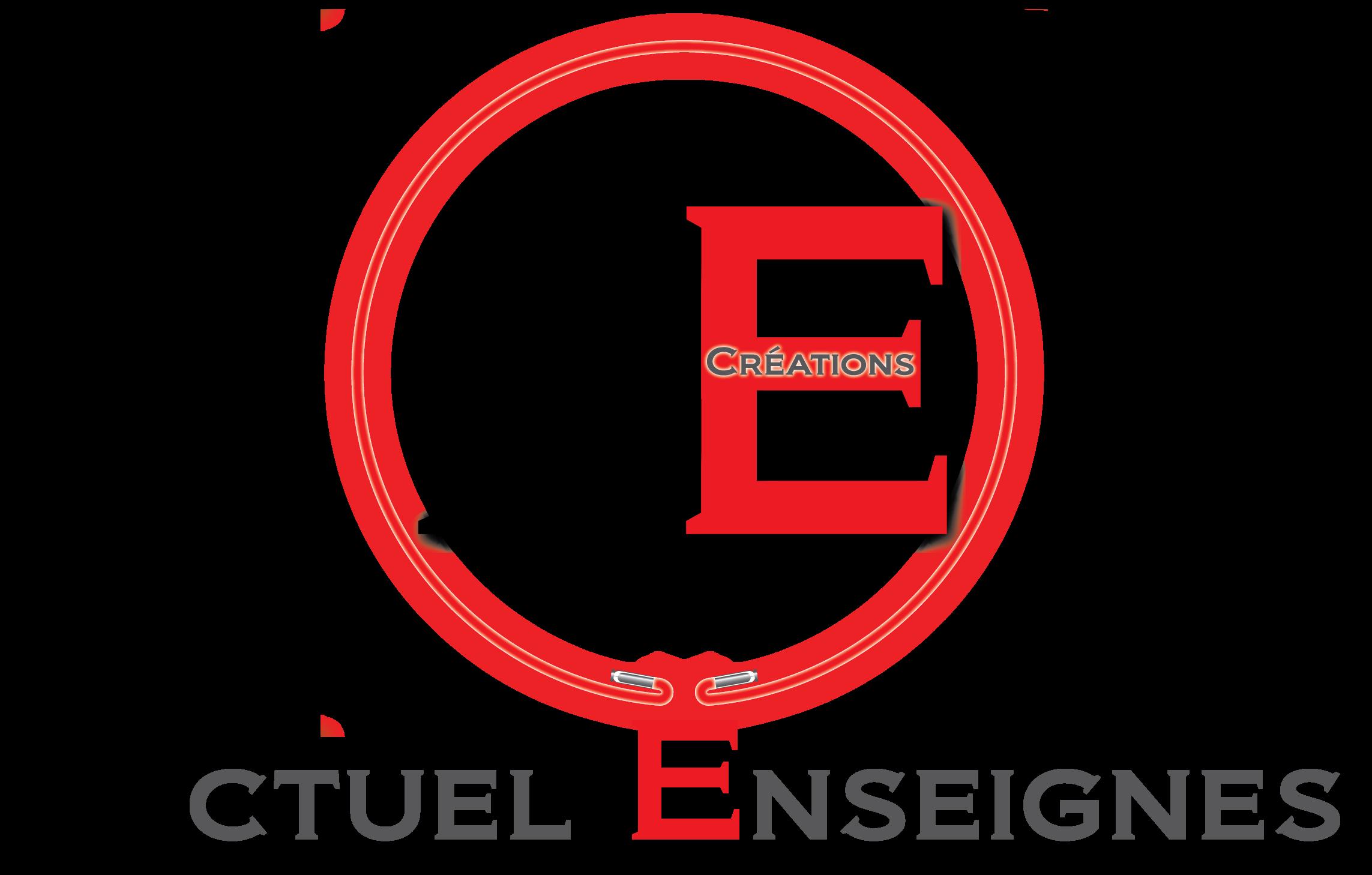 Logo actuel enseignes led neon