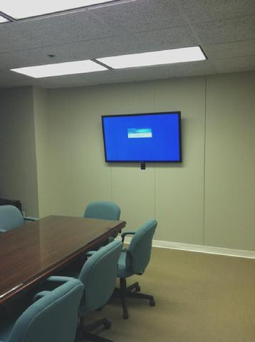 Meeting Room Monitor Installation