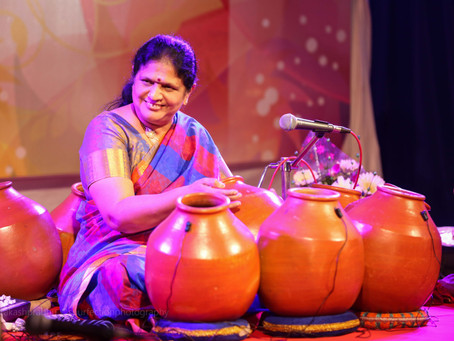 """MARCHING TO HER OWN BEAT -""""keeping time"""" with Sukkanya Ramgopal, the Ghatam artiste."""