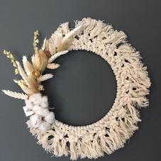 Couronne macramé naturel - diam 28 cm