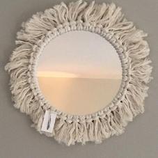 Miroir bohème - diam total env 30 cm