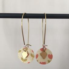 CR01. Crochets dorés papier coeurs