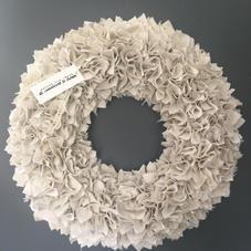 Couronne en coton recyclé gris - diam 35 cm