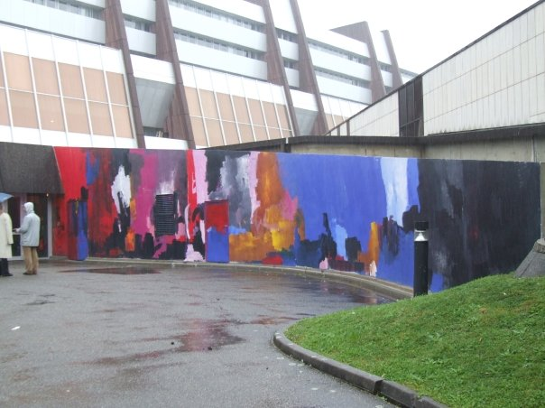 Mur peint par Flore Sigrist au Conseil d
