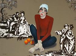 Toile With Oranges