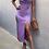 Thumbnail: SLINKY SLIP DRESS- PURPLE