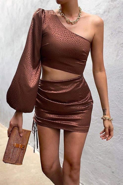 MONROW DRESS-CHOCOLATE