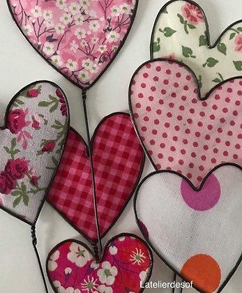 Coeur en fil de fer et couleur