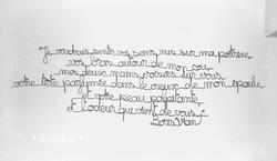 texte écriture mots fil de fer