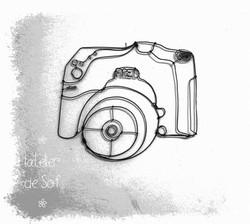 appareil photo déco fil de fer commande