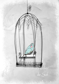 cage oiseau libre fil de fer