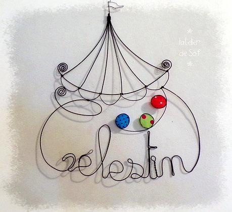 Prénom couleurs best of chapiteau et jonglage fil de fer