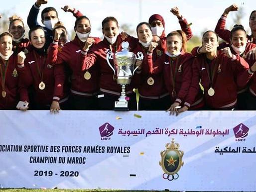تتويج فتيات الجيش الملكي بدرع البطولة