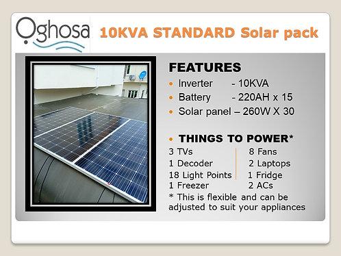 10  KVA STANDARD SOLAR PACK