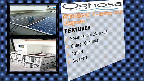 STANDARD 8 -BATTERY SOLAR UPGRADE
