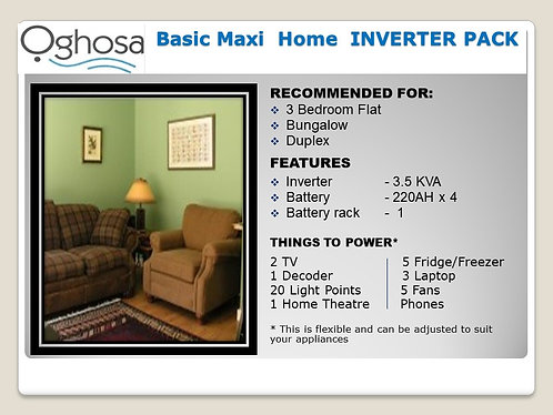 BASIC MAXI HOME INVERTER  PACK