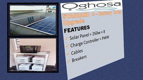 STANDARD 4 -BATTERY SOLAR UPGRADE