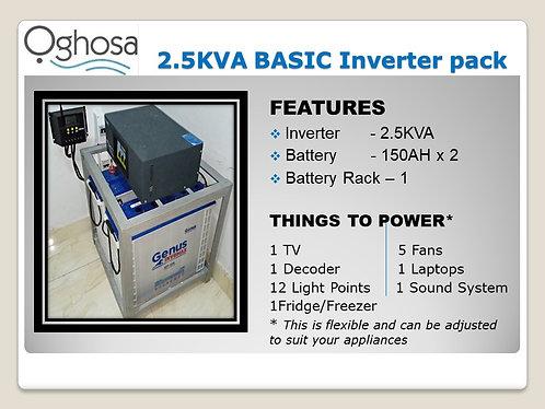 2.5 KVA BASIC INVERTER PACK
