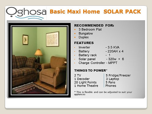 BASIC MAXI HOME SOLAR PACK