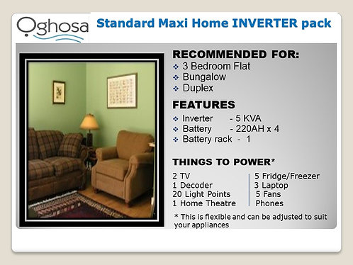 STANDARD MAXI HOME INVERTER PACK