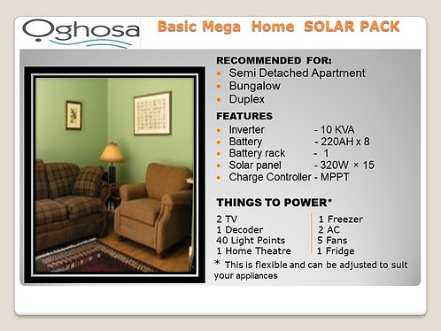 BASIC MEGA HOME SOLAR PACK