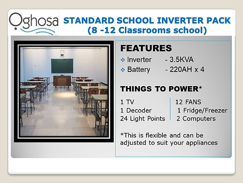 STANDARD SCHOOL INVERTER PACK
