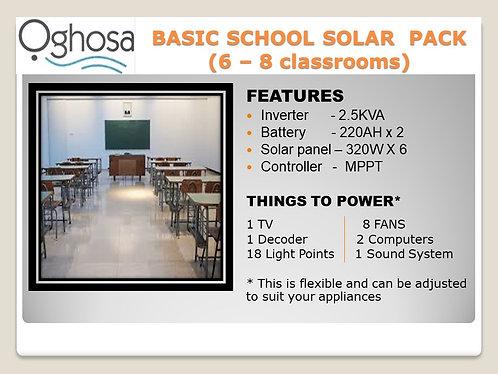 BASIC SCHOOL SOLAR PACK
