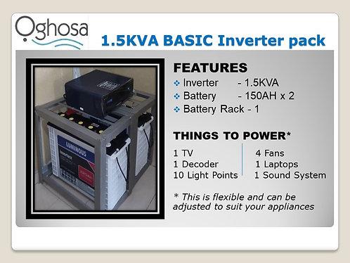 1.5 KVA BASIC INVERTER PACK