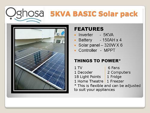 5 KVA BASIC SOLAR PACK