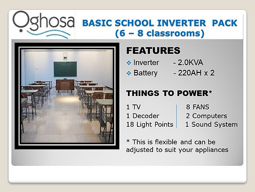 BASIC SCHOOL INVERTER PACK