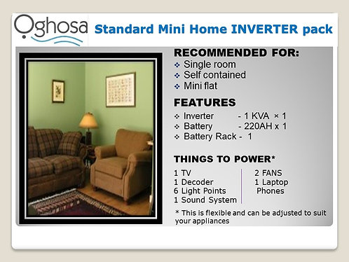 STANDARD MINI HOME INVERTER PACK