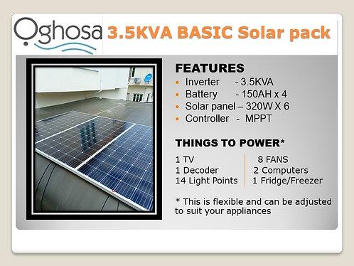 3.5 KVA BASIC SOLAR PACK