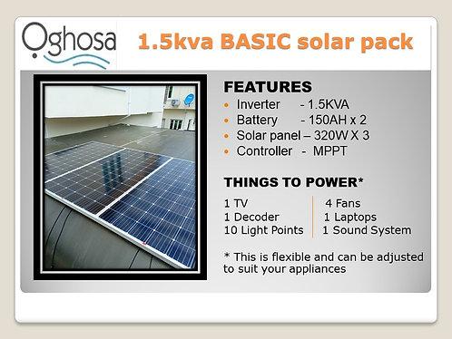 1.5 KVA BASIC SOLAR PACK